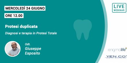 locandina webinar protesi duplicata Giuseppe Esposito