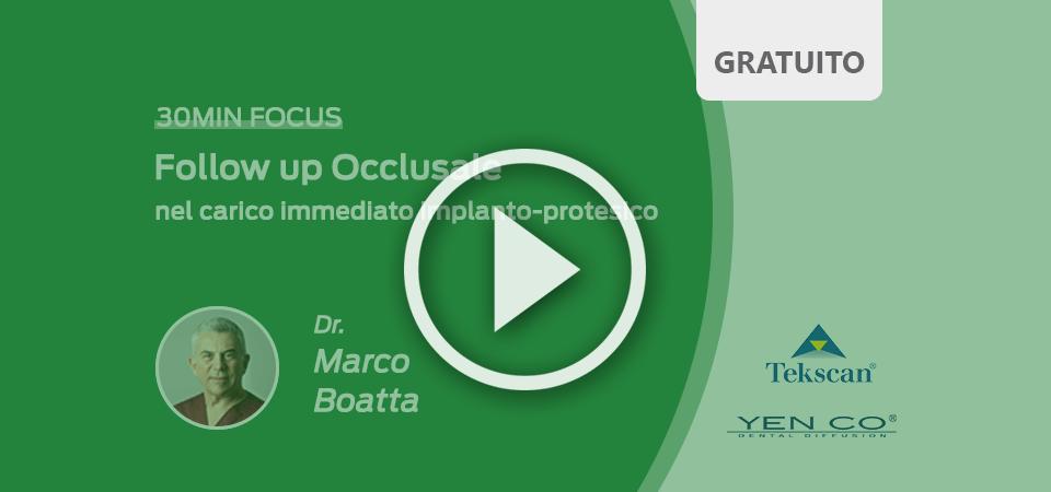 Follow up Occlusale nel carico immediato implanto-protesico, video corso