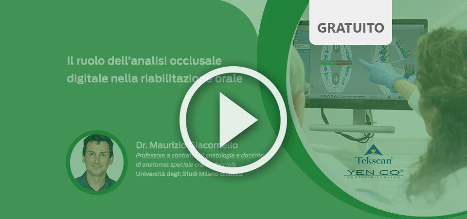 Il ruolo dell'analisi occlusale digitale nella riabilitazione orale, video corso